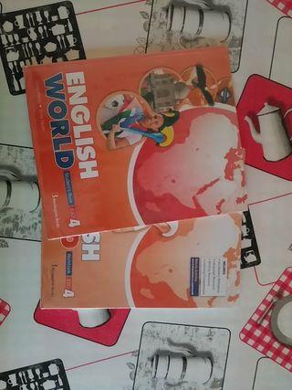 Libro y cuaderno English World 4 de la eso