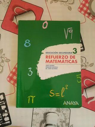 Libro Refuerzo de matemáticas 3 eso