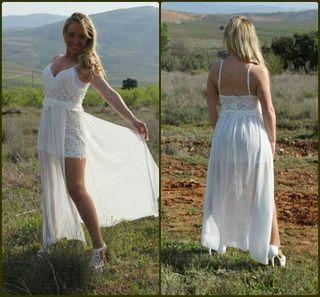 Vestido de mujer para verano ,hecho a mano .Nuevo