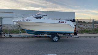 Barca quicksilver 510 + remolque con freno