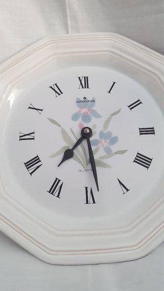 Reloj Alemán (antiguo) Plato de loza mar:Junchans.