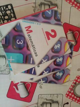 Libros Matemáticas 2 de la Eso