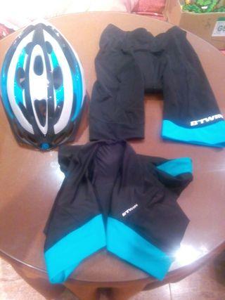 Pack casco + 2 culotte. A estrenar