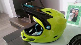 casco enduro dh fibra + oakley +culera dainese