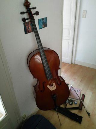 Violonchelo / Cello + funda arco atril correa m...