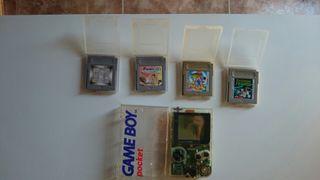 Consola game boy pocket.