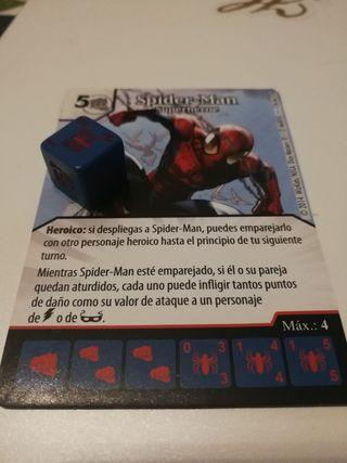 Carta y dado Uncanny X men Super raro Spiderman