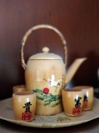 Juego de té de bambú