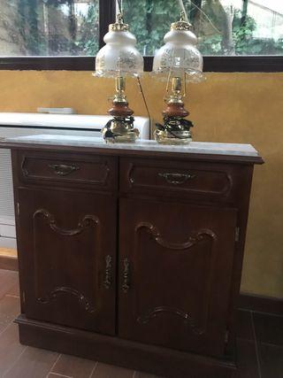 Taquillon madera regalo lámparas