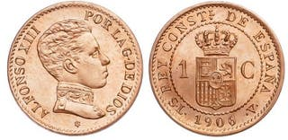 Alfonso XIII -1 céntimo. 1906*6. SLV S/C