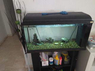 aquario 100 litros con mueble,calentador,filtro...