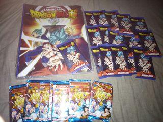 Lote sobres y album Dragon Ball