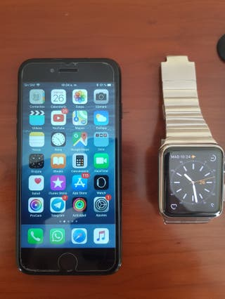iphone 7 jet black 128gb y apple watch