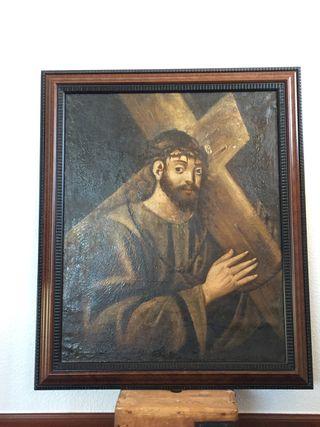 Cuadro antiguo en lienzo
