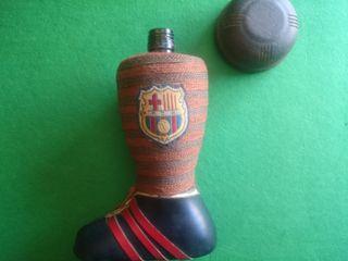 bota de coleccionista del barcelona de madera