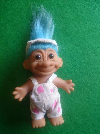 troll russ vintage muñeco pintor
