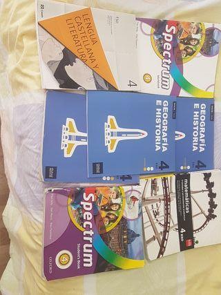 libros de texto 4 de la Eso
