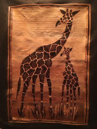 Cuadros hechos madera Kenia
