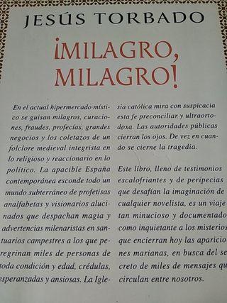 Libro lectura- ¡Milagro, Milagro!