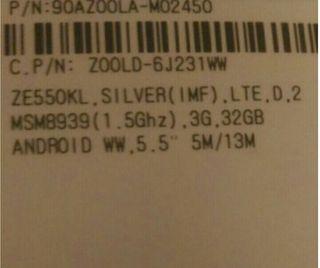 asus zenfone 2 ze550kl32 gb tactil roto