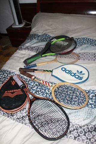 Raquetas tenis antiguas