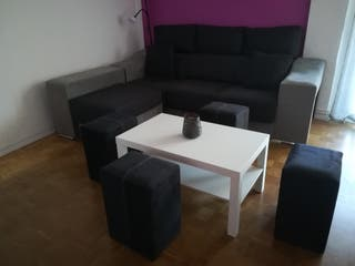 OFERTA HOY sofá con Cherlong, regalo mesita. NUEVO