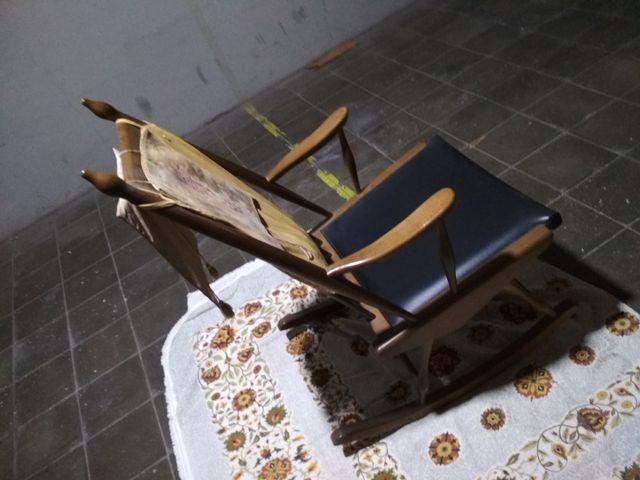 balancín de madera vintage