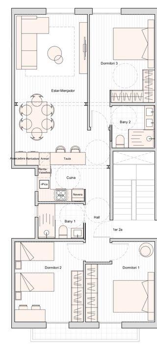 Piso 3 habitaciones Centro