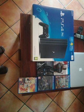 PS4 PRO 1TB + 2 años de Garantia + 5 Juegos