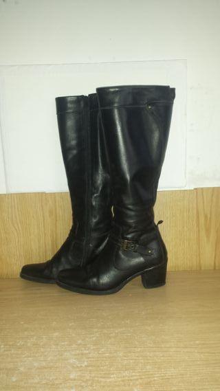 Botas de piel de caña alta T 38