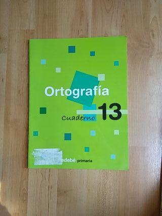 Libro escolar castellano Ortografía cuaderno 13