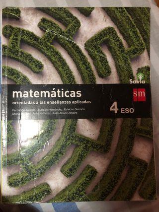 Libro de matemáticas aplicadas 4ºESO