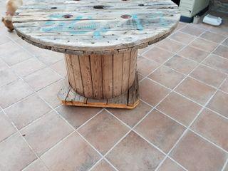 mesa exterior madera