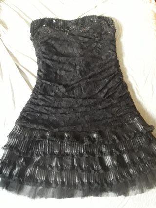 vestido elastico negro