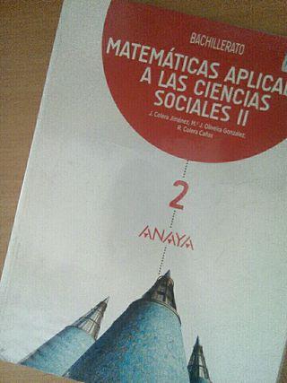 Matemáticas Aplicadas a las CC.SS II 2° bachiller