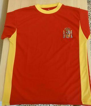 Camiseta España bordada NUEVA. Talla S-M