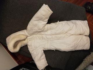 abrigo buzo bebe blanco