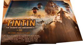 Cartel de cine y trailer originales Tintin