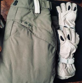 Pantalón esquí talla 10 / Guantes esquí