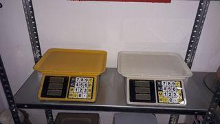 balanza bascula comercial con batería 40kg