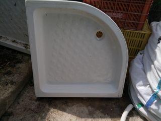 Base angular para ducha, plato de ducha