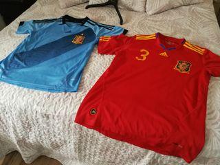 camiseta españa mundial 2010 y eurocopa 2012,
