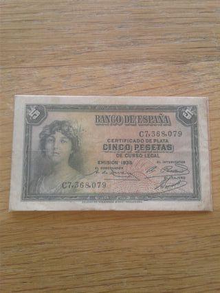 billete 5 pesetas