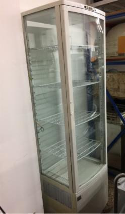 vitrinas 4 caras de cristal refrigeradas