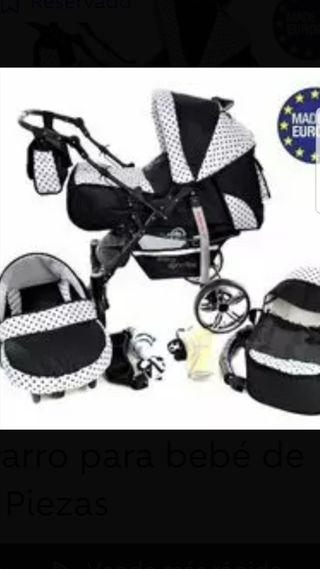Carro para bebe de 3 piezaz