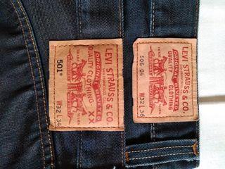 Vaqueros Levi's 501. Dos pantalones.