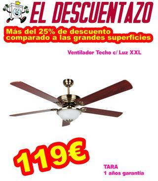 Ventilador Techo Luz XXL