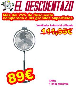 Ventilador Industrial c/ Mando