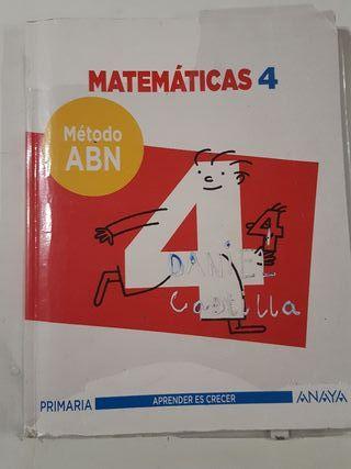 Matemáticas 4°E.P. Libro de texto.