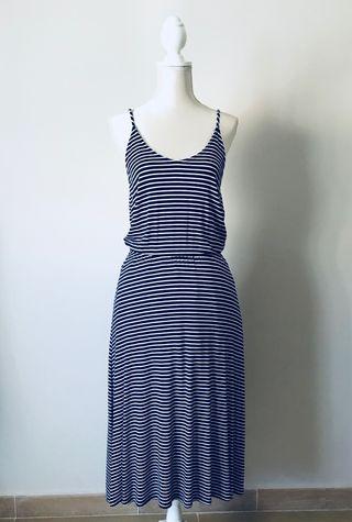 Vestidos color azul con blanco